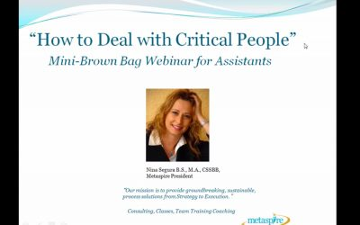 How To Deal With Critical People Webinar